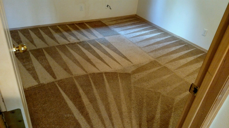 After bedroom carpet cleaning