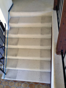 Before Stair Carpet Cleaning